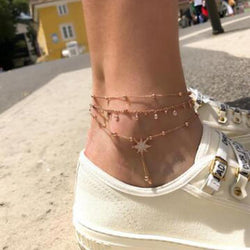 Rene Layered Anklet