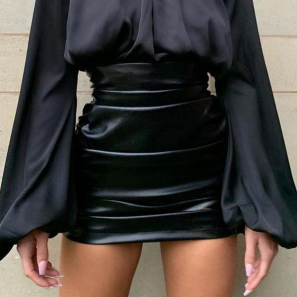 Meadow Faux Leather Skirt