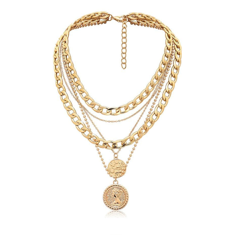 Delacey Coin Layered Necklace