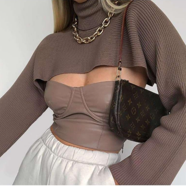 Selkie Crop Knitted Sweater