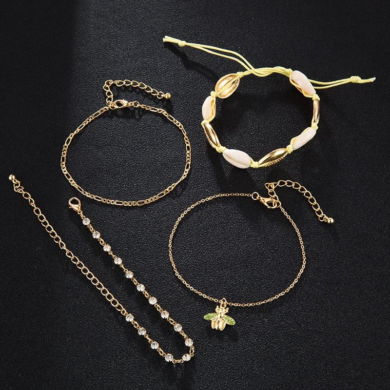 Willa Shell Anklet Set