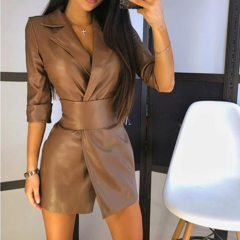 Landra Faux Leather Dress