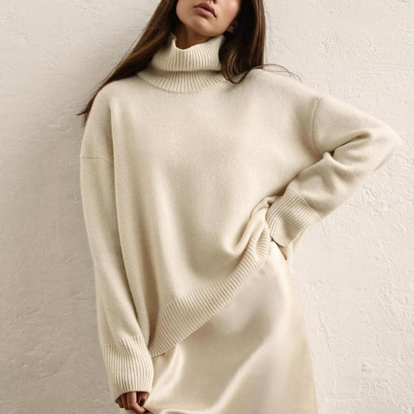 Bally High Neck Oversized Sweater