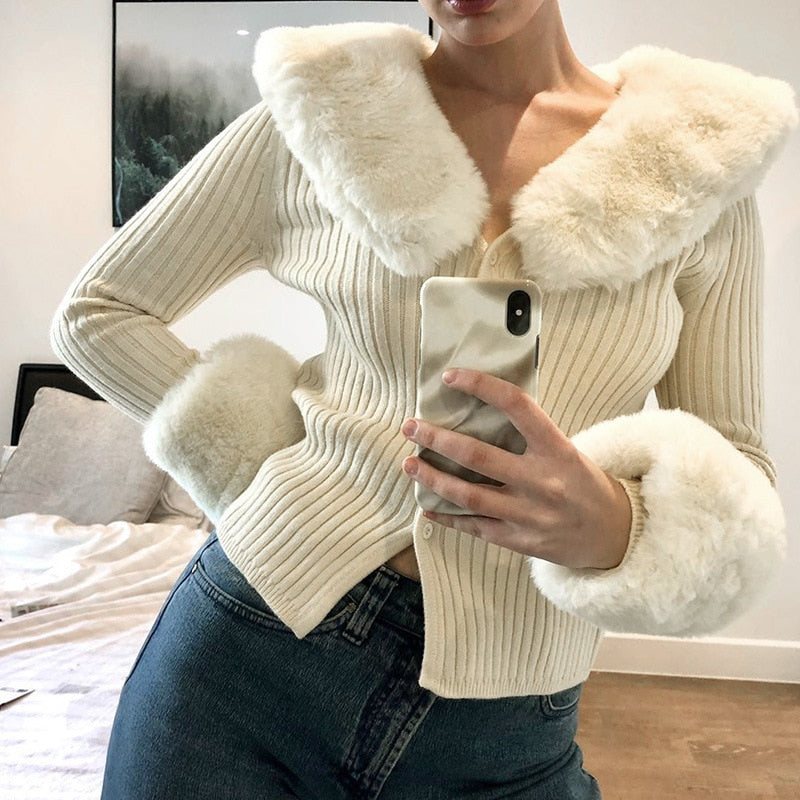 Royce Faux Fur Cardigan