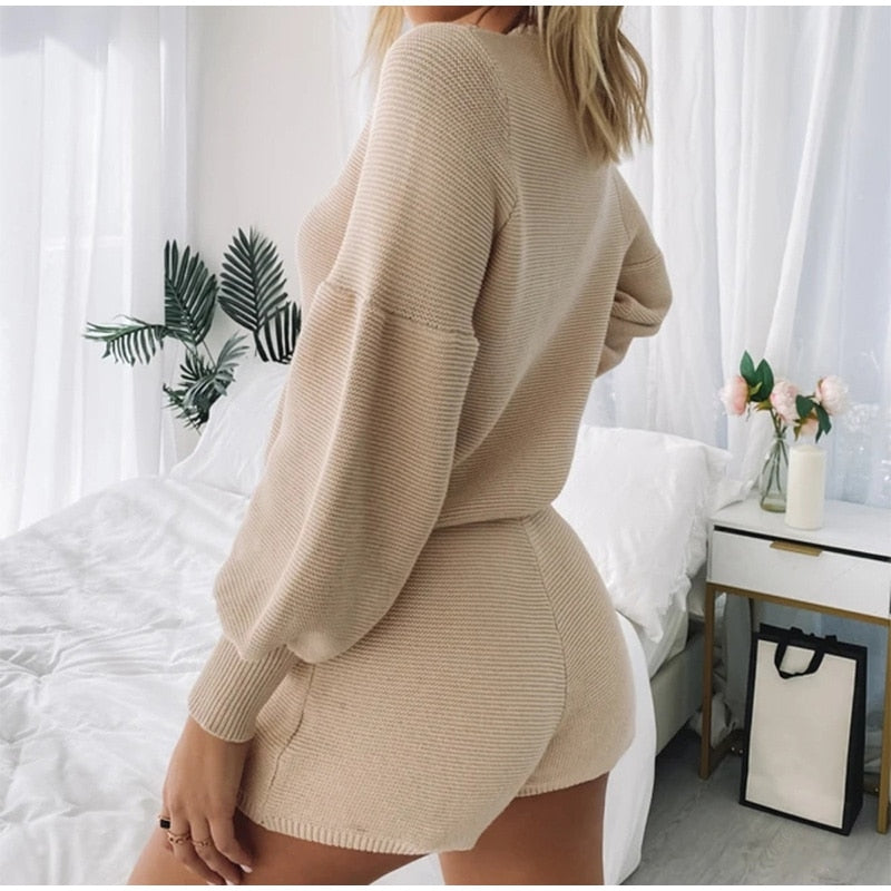 Takata Knitted Two Piece Set
