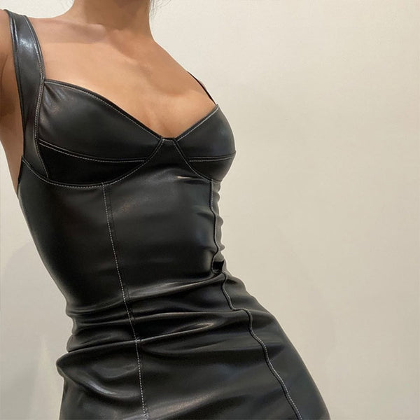 Alex Faux Leather Dress
