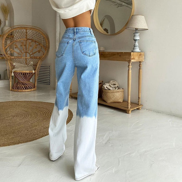 Carina Ombre High Waisted Denim Pants