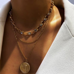 Luca Coin Layered Necklace