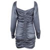 Zane Ruched Satin Dress