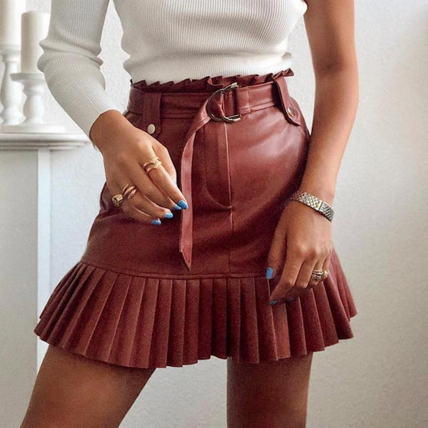 Trixy Faux Leather Skirt