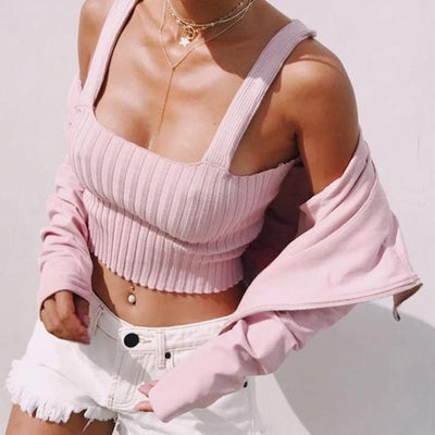 Courtney Ribbed Knit Top