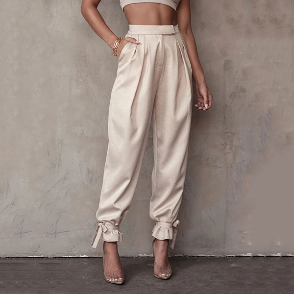 Jazzy High Waisted Satin Pants