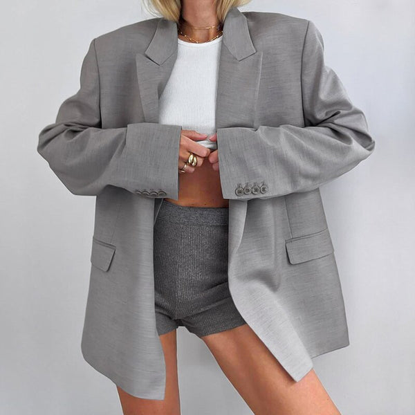 Sandie Padded Shoulder Blazer