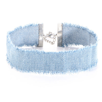 Elliot Stone Washed Denim Choker