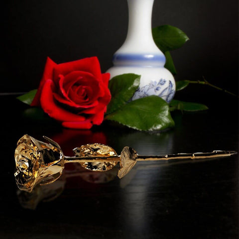 Gold Dipped Rose in Australia - Real Rose with Background