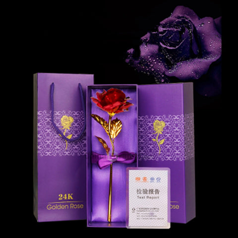 24k Gold Rose Australia with Box and Carry Bag and Certificate of Authenticity from Smart Sales Australia