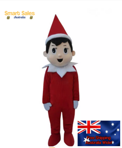 Christmas Elf Adult Mascot Costume 8 Sizes - Smart Sales Australia
