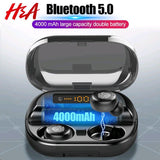 Wireless Bluetooth In Ear Earphones with IPX7 4000mAh Power Bank Charging Case w/ LED Display | For Samsung, iPhone, Android 9D Stereo Headphones - You can buy this awesome product from Smart Sales Australia!