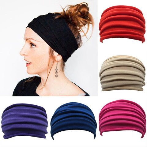 Womens Wide Yoga BOHO Headbands Multiple Styles and Colours