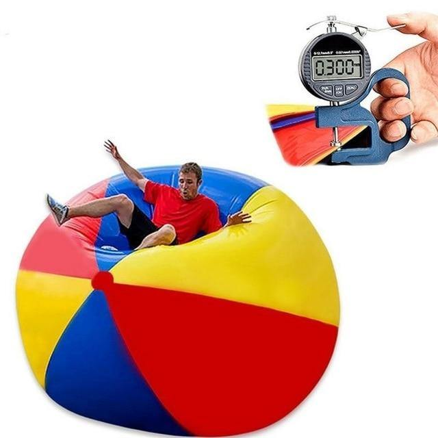Giant Durable Inflatable Large Beach Ball in Three Colors for Kids and Outdoor Activities - Smart Sales Australia