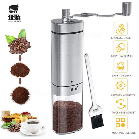 YAJIAO Handy Coffee Bean Grinder Coffee Maker Stainless Steel - Smart Sales Australia