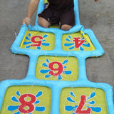 Inflatable Sprinkler Hopscotch Outdoor Summer Fun Splash Mat 1.74m x 0.6m - Smart Sales Australia