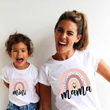 Mother-Daughter Matching Printed Rainbow Short-Sleeve Shirt - Smart Sales Australia