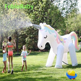 Summer Home PVC Animal Sprinkle Water Park Inflatable Elephant, Unicorn Spray Water Toys - Smart Sales Australia