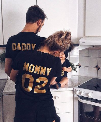 Matching Family Outfits Team Cotton Shirts - Daddy, Mommy, Kid, Baby - You can buy this awesome product from Smart Sales Australia!