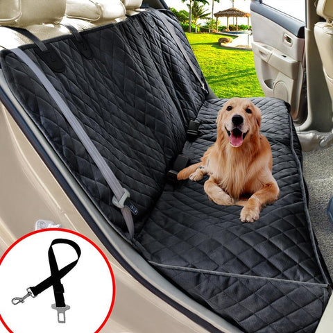 Heavy Duty Waterproof Car Back Seat Cover For Large Dogs
