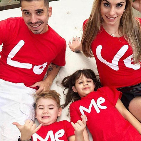 Love Red Family Shirt Matching Printed Design For Family - Smart Sales Australia