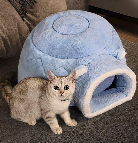 Round Cushion Calming Warm Bed for Pet Cats