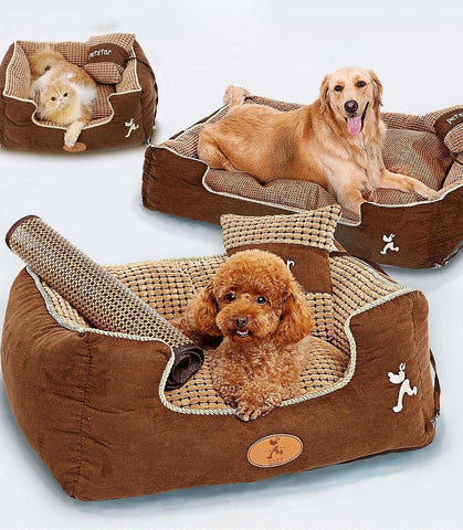 Calming Soft Fabric Sofa Bed for Pet Dogs