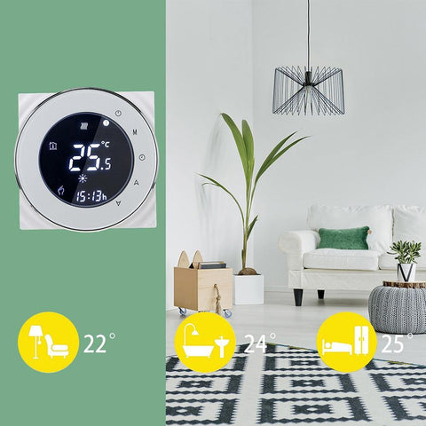 Gas Boiler with an Intelligent Thermostat Controller For Indoor Use