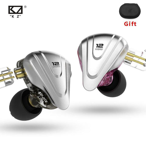 KZ ZSX Earphones 5BA+1DD Hybrid 12 Drivers Noise Proof For Android iOS - Smart Sales Australia