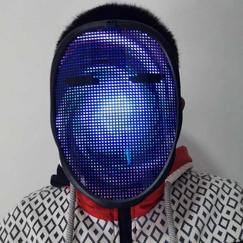 Face-Changing Bluetooth Headwear Costume for Parties with LED Screen Rechargeable Cord-Free - Smart Sales Australia