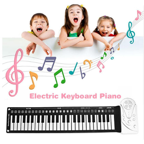 Portable Educational 49-Key Flexible Electronic Keyboard