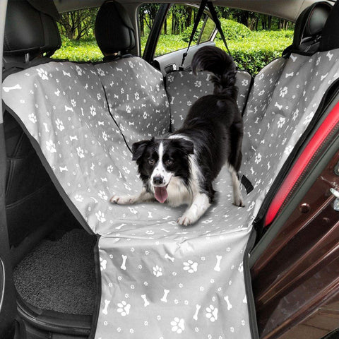Printed Car Back Seat Cover Pet Carrier with Safety Belt Transporting Perro
