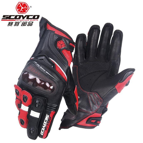 Racing Motorcycle Gloves - Sheepskin Leather Motorbike Racing Rider Gloves - You can buy this awesome product from Smart Sales Australia!