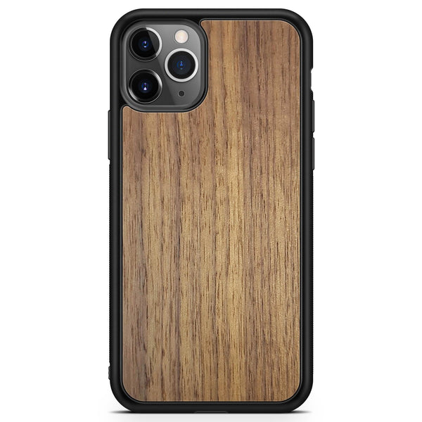 Real Wood Phone Case for iPhone 11 PRO iPhone 11 PRO MAX in Black Colour made from American Walnut wood