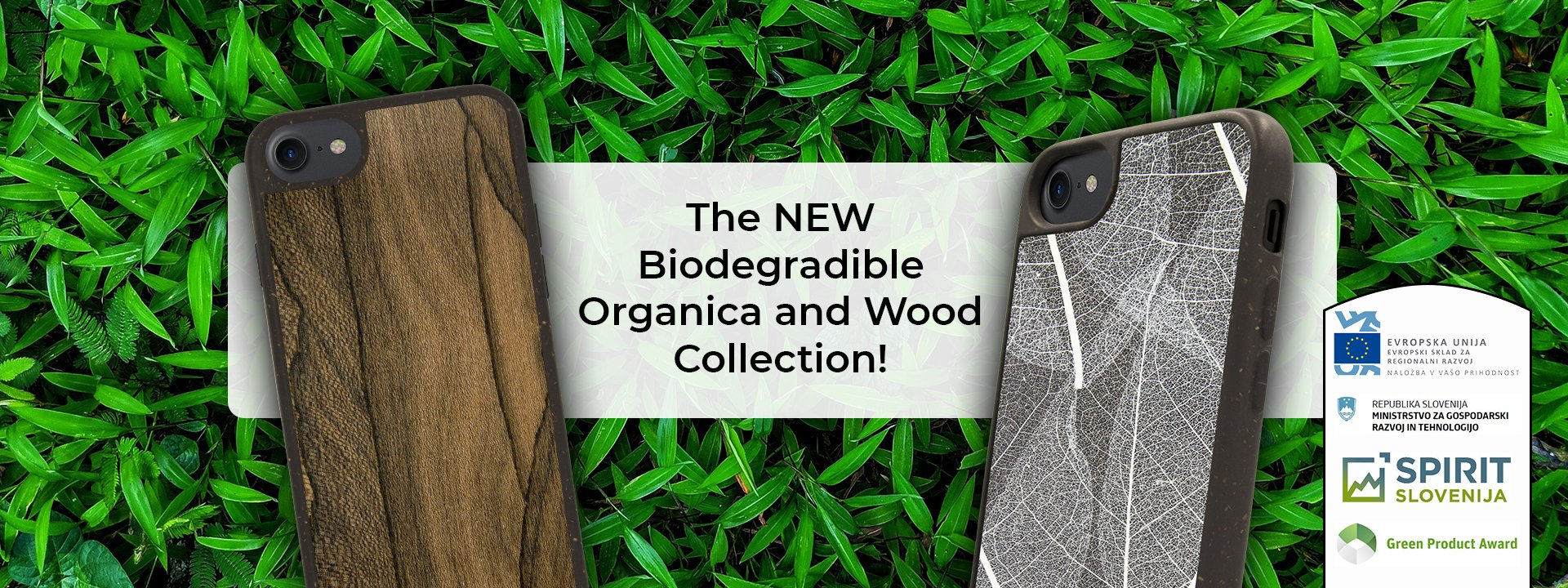 Biodegradable Organica and Wood Collection Phone Case
