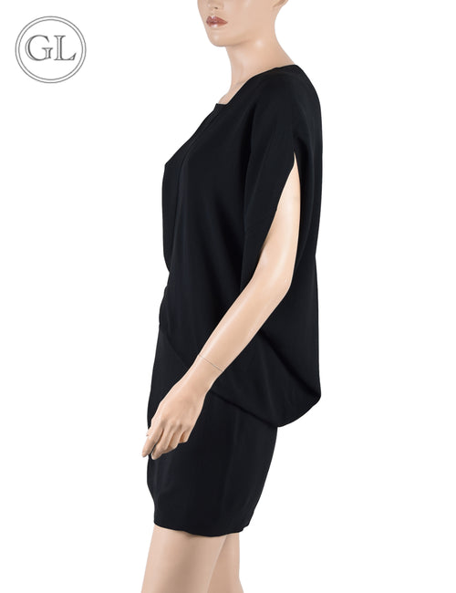 Barbra Bui Black with Leather Details Dress - US 6