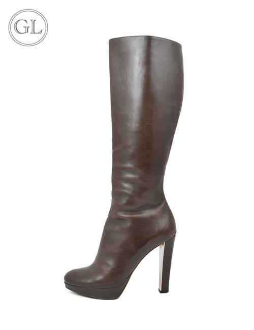 Christian Dior Brown Leather Boots - US 8