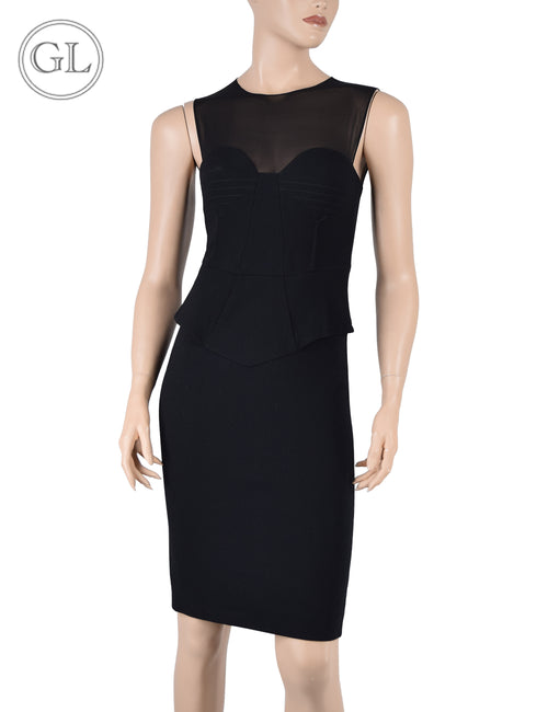 Emillio Pucci Black with Chiffon Details Dress - US 4
