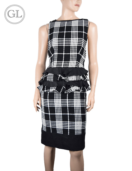Erica.L Black and White Sleeveless Dress - US 8