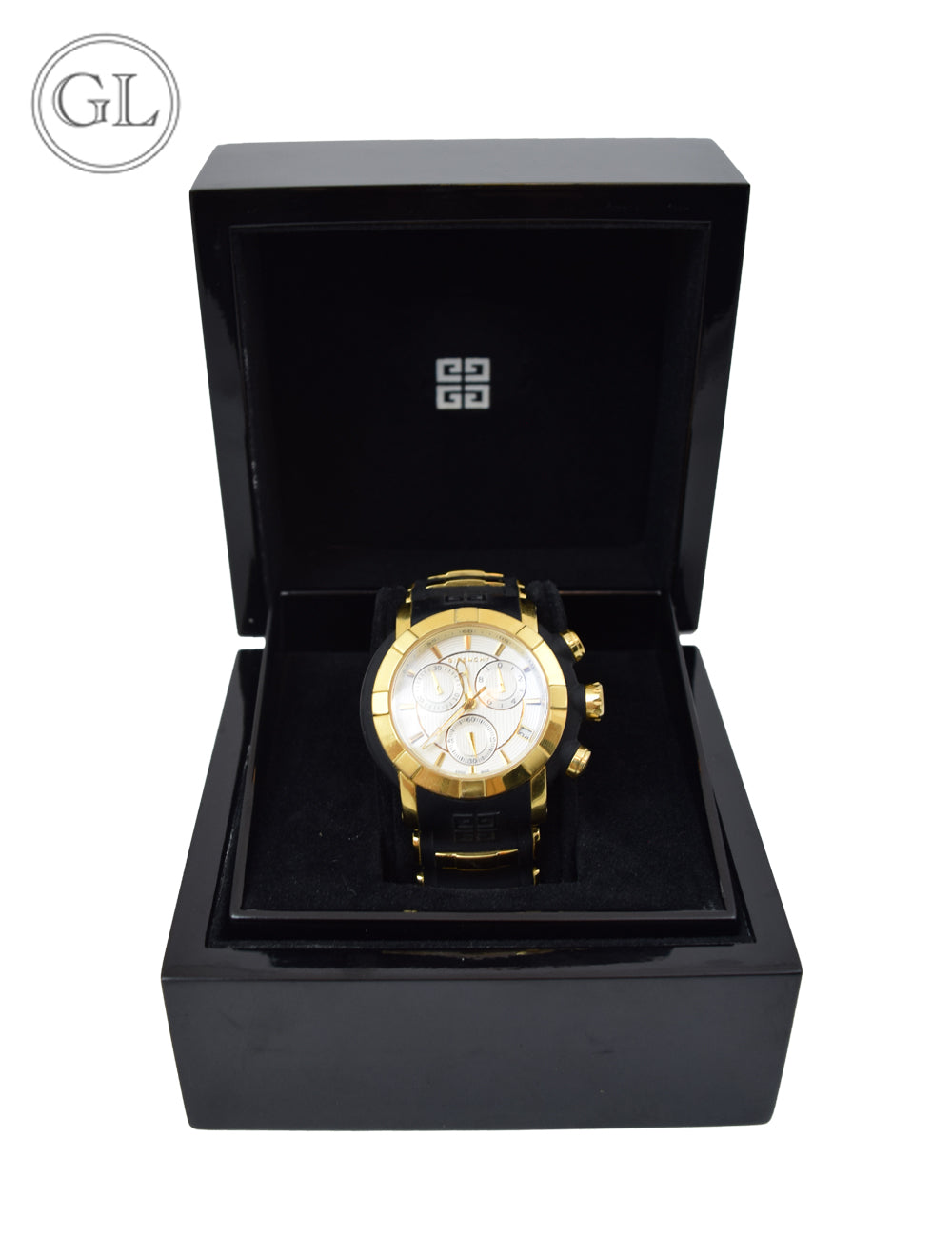 Givenchy Black and Gold Watch