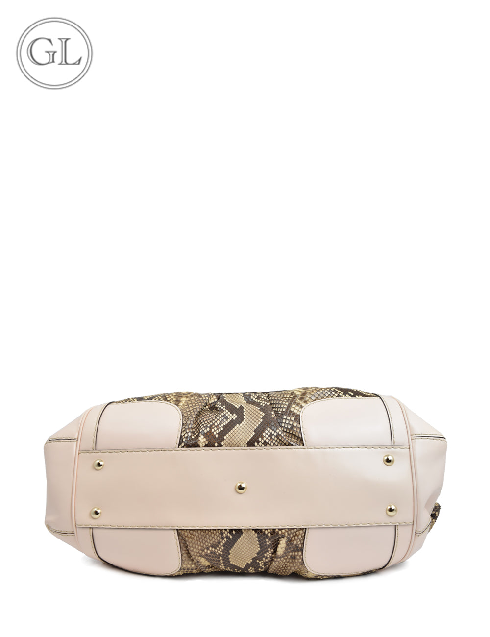 Gucci Light Pink and Python Leather Handbag