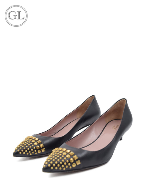 Gucci Black Studded Pump - EU 40