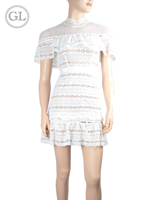 Self Portrait White Lace Dress - US 2