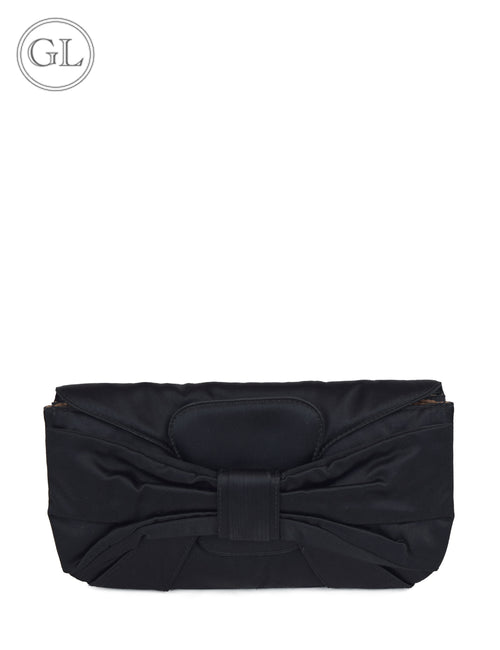 Valentino Black Nylon Clutch
